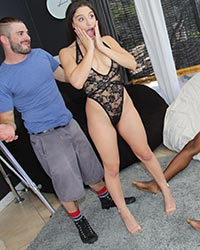 Abella Danger Black Interracial Gangbang