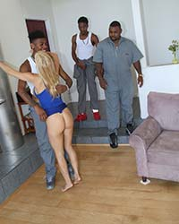 Alexis Fawx Black Interracial Gangbang
