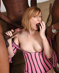 Allison Wyte Sucking Black Cock