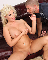 Andi Anderson - Blonde with great tits gets gangbanged in front of her boyfriend
