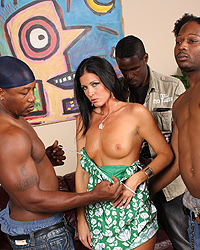 10 India Summer having interracial gangbang with hung black studs while her cuckold husband watch