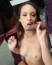 Jade Nile Forced To Suck Black Dick