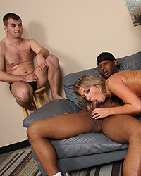 Jaelyn Fox - Sexy blonde uses her cuckold as a table