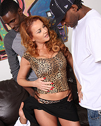 Janet Mason - Busty cougar has her husband watch as she gets an overdose of black cocks