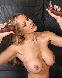 Julia Ann 18 Inch Black Cock
