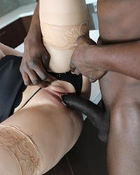 Kate England's Second Appearance Interracial Internal Creampie