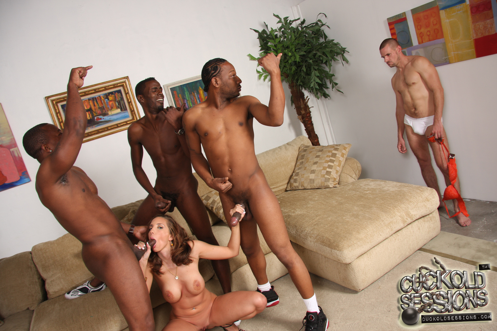 Multiply naked cuckold groups