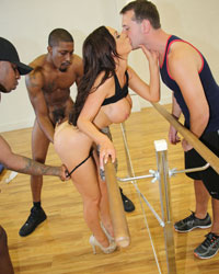 Nikki Benz Jordan Blue Blacks On Cougars