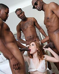 Pepper Hart Rough Interracial Gangbang