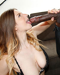 Stella Cox Black Dick Gagging